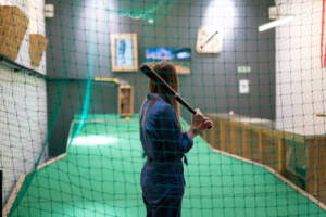 girl in batting cage bat hampshire party