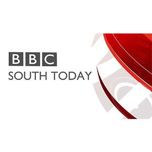 TV logo BBC south today baseball simulator
